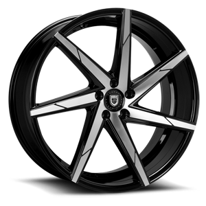 Lexani Wheels CSS-7 5 Black & Machined