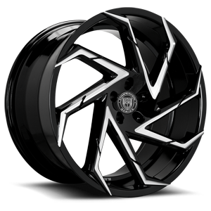 Lexani Wheels Cyclone 5 Black & Machined Face
