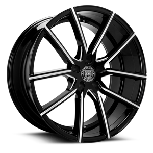 Lexani Wheels Gravity 5 Black Milled