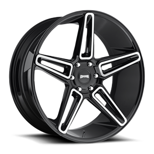 DUB 1-Piece Lit - S203 6 Gloss Black with Brushed Face