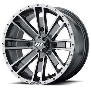 MSA Offroad Wheels M28 Ambush 4 Machined Graphite