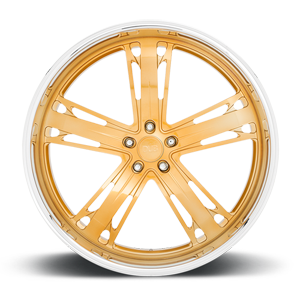 Malice -X83 Candy Gold w/ Polished Lip 5 lug