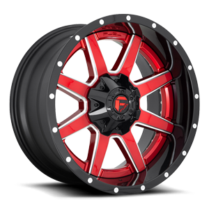 Maverick D250 Candy Red w/ Gloss Black Lip 6 lug
