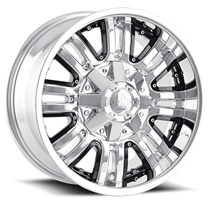 Mayhem Wheels Assault 8 Chrome w/ Black Inserts