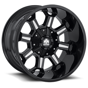 Mayhem Wheels Combat 6 Black Milled Spokes