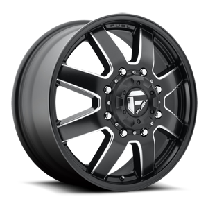 Fuel Dually Wheels Maverick Dually Front - D538 8 Black & Milled