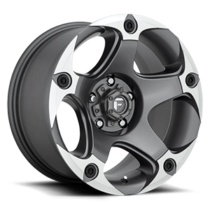 Menace - D684 Anthracite & Machined 5 lug