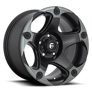 Fuel 1-Piece Wheels Menace - D685 5 Matte Black/Machined/DDT