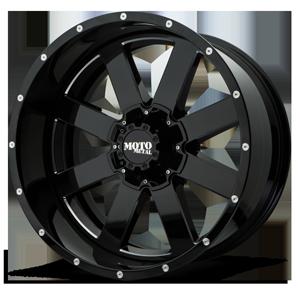 MO200 Gloss Black Milled 6 lug