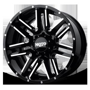 Moto Metal MO202 8 Black Machined with Black Lip