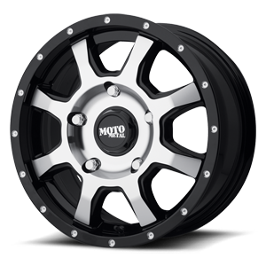 Moto Metal MO970 Euro Van 5 Gloss Black w/ Machined Face