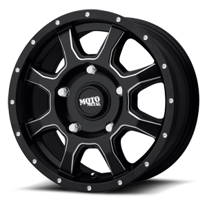 Moto Metal MO970 Euro Van 5 Satin Black Milled