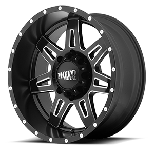 Moto Metal MO975 8 Satin Black Milled
