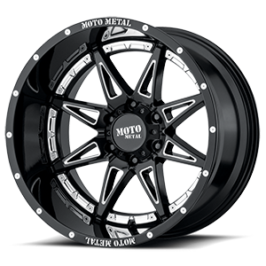 Moto Metal MO993 Hydra 6 Gloss Black with Chrome Inserts