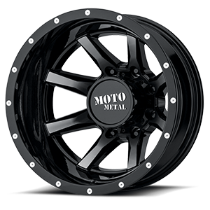 MO995 Gloss Black Machined Face 8 lug