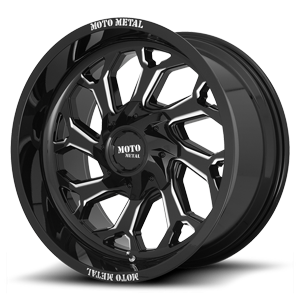 MO999 Gloss Black Milled 6 lug