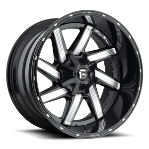 Fuel 2-Piece Wheels Moab - D242 8 Gloss Black & Milled