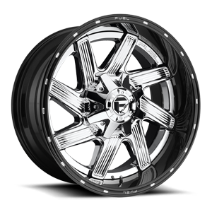 Fuel 2-Piece Wheels Moab - D241 5 Chrome with Gloss Black Lip