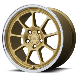 Motegi Racing MR135 5 Gold Center w/ Machined Lip