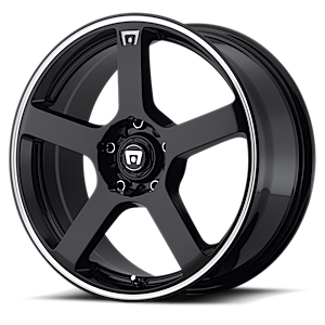 MR116 Gloss Black w/ Machined Flange 5 lug