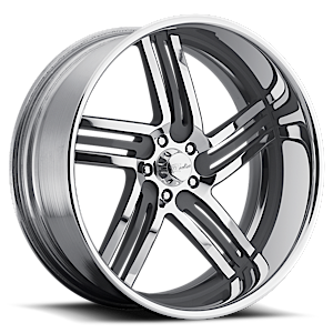 Raceline Wheels Majestic 5 Chrome with Black Inserts