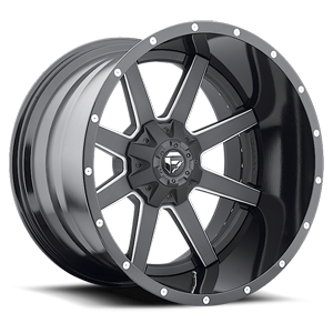 Maverick - D262 Black & Milled 5 lug