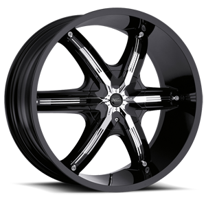 Milanni Wheels 460 Bel Air 6 6 Gloss Black with Chrome Inserts