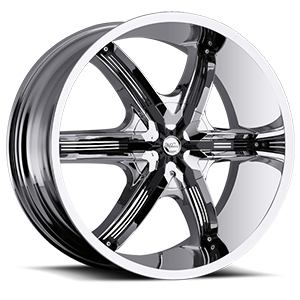 Milanni Wheels 460 Bel Air 6 6 Chrome with Gloss Black Insert