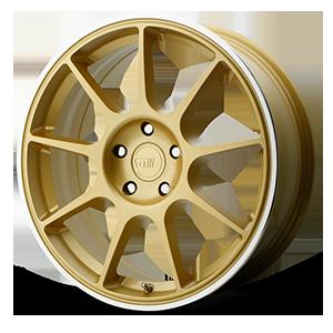 Motegi Racing MR138 5 Gold w/ Machined Lip