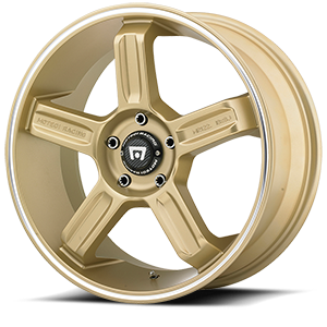 MR122 Gold w/ Machined Lip Groove 5 lug