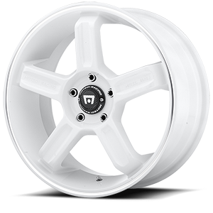MR122 White w/ Machined Lip Groove 5 lug