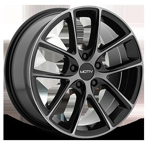 Motiv Luxury Wheels 420 Murano 5 Gloss Black with Machined Face and Dark Tint