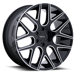 Motiv Luxury Wheels 421 Medallion 6 Gloss Black with Mirror Machined Face and Lip Accents