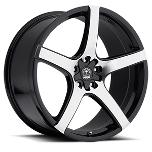 Motiv Luxury Wheels 410 Maranello 5 Mirror Machined Face with Gloss Black Accents