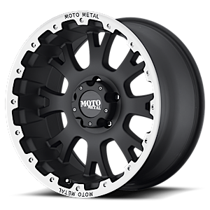 MO956 Matte Black w/ Machined Lip 5 lug
