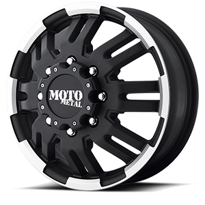 Moto Metal MO963 Dually 8 Matte Black Machined