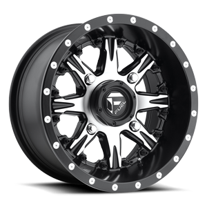 Fuel UTV Wheels Nutz - D541 - UTV 4 Black & Machined Face