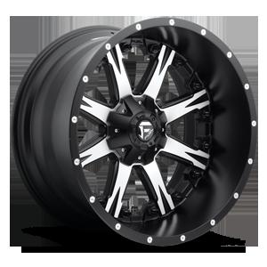 Fuel 2-Piece Wheels Nutz - D541 5 Black w/ Machined Face