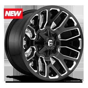 Fuel 1-Piece Wheels Warrior - D623 5 Gloss Black & Milled