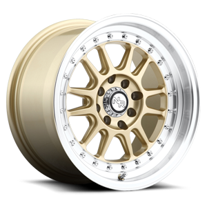 Niche Racing Series Walker - M092 4 Matte Gold / Machined Lip