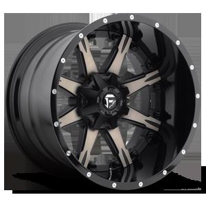 Fuel 2-Piece Wheels Nutz - D252 5 Black & Machined with Dark Tint