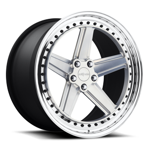 PNT Hi Luster Polished w/ Matte Clear 5 lug