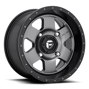Fuel UTV Wheels Podium - D619 - UTV 4 Anthracite w/ Black Lip