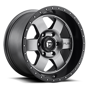 Fuel 1-Piece Wheels Podium - D619 6 Anthracite with Black Lip
