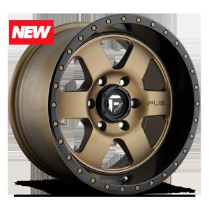 Fuel 1-Piece Wheels Podium - D617 6 Bronze w/ Black Lip