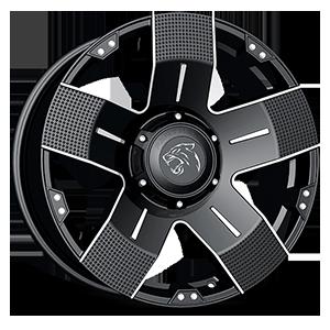 901 Flat Black Machined 6 lug