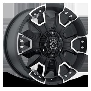 904 Flat Black Machined 6 lug