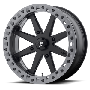 MSA Offroad Wheels M31 Lok2 Beadlock 4 Satin Black w/ Matte Gray Ring