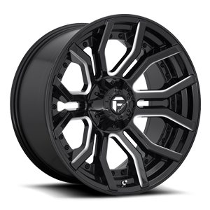 Rage - D711 Gloss Black & Milled 6 lug