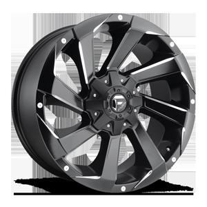 Fuel 1-Piece Wheels Razor - D592 6 Black & Milled